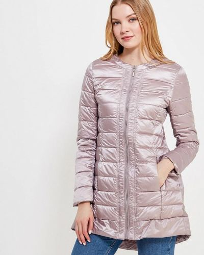 Утепленная куртка весенняя розовая Conso Wear