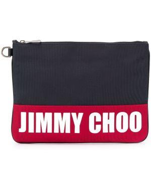 Torba sprzęgło niebieski z łatami Jimmy Choo