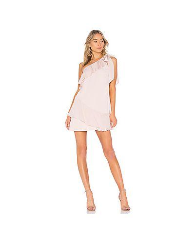 Платье с оборками шелковое Parker
