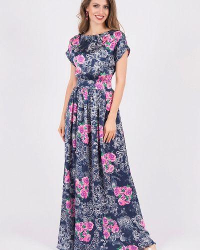 Платье макси синее оливковый Olivegrey