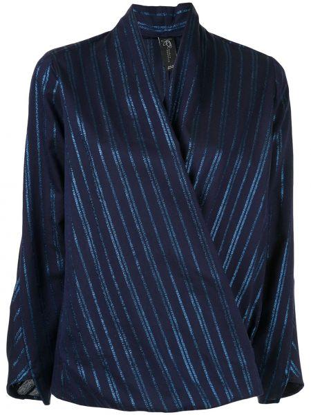 Блузка в полоску - синяя Zero + Maria Cornejo