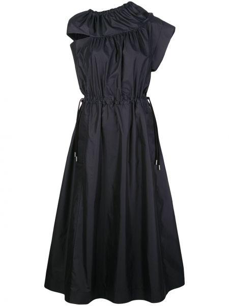 Расклешенное приталенное платье милитари без рукавов 3.1 Phillip Lim