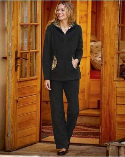Домашний флисовый черный костюм Atlas For Men