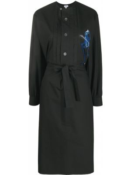 Платье с вышивкой на пуговицах Loewe