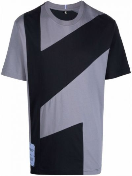 Niebieska T-shirt z nadrukiem z printem Mcq