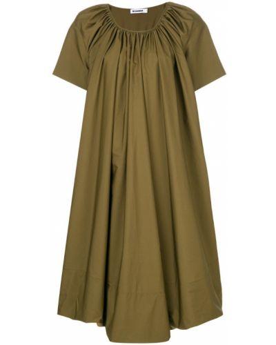 Платье свободного кроя хлопковое Jil Sander