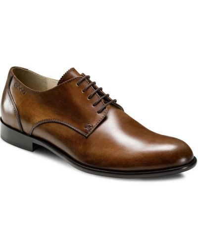 Кожаные туфли на шнурках классические Ecco