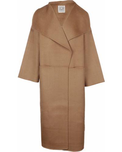 Brązowy płaszcz Toteme