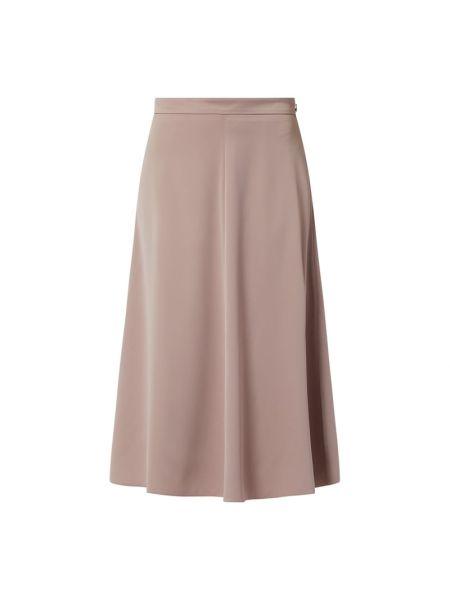 Brązowa spódnica midi rozkloszowana z wiskozy Riani