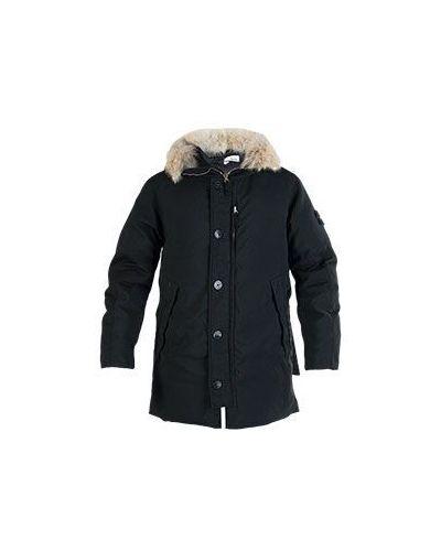 Черная зимняя куртка Stone Island