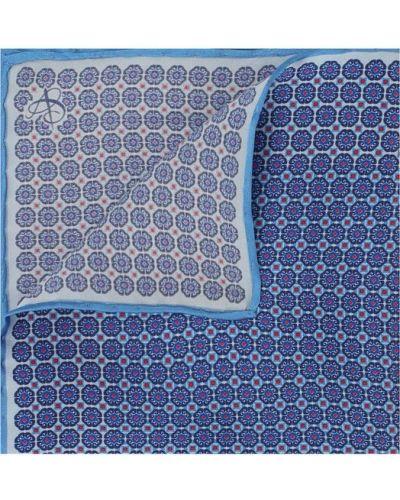 Синий шелковый платок нагрудный Canali