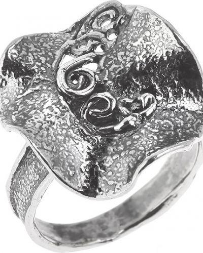 Деловое серебряное кольцо с декоративной отделкой Yaffo