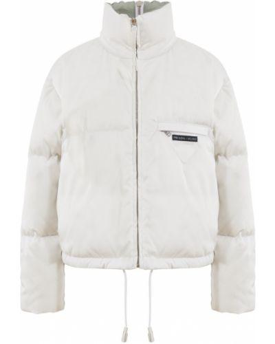 Куртка с воротником - белая Prada
