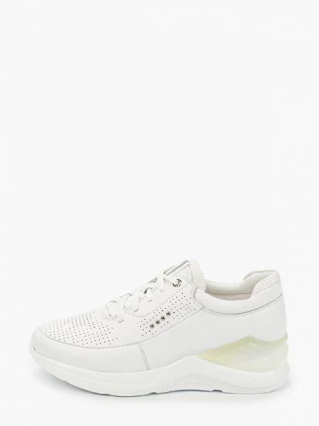 Белые кроссовки из натуральной кожи Thomas Munz