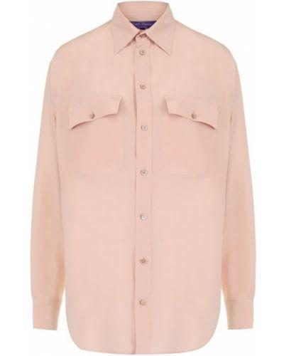 Блузка с длинным рукавом из крепа с воротником Ralph Lauren
