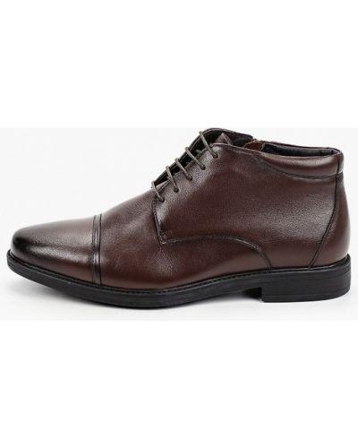 Коричневые кожаные ботинки Zenden
