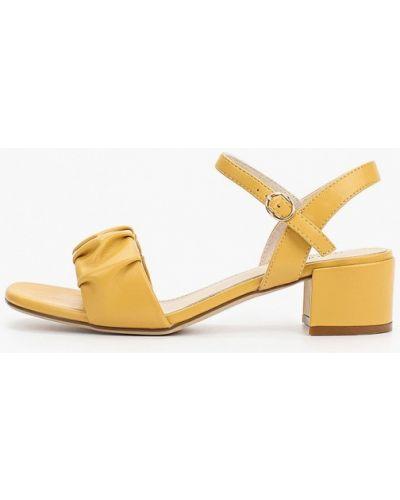 Кожаные желтые босоножки Lolli L Polli