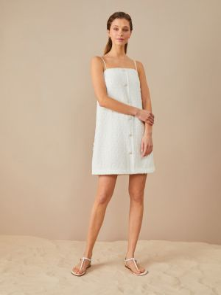 Белое платье мини 12storeez