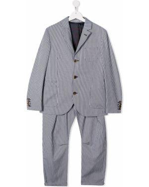 Garnitur kostium z klapami Brunello Cucinelli Kids