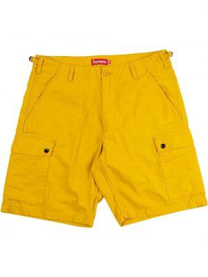 Żółty bawełna bawełna szorty cargo z kieszeniami Supreme