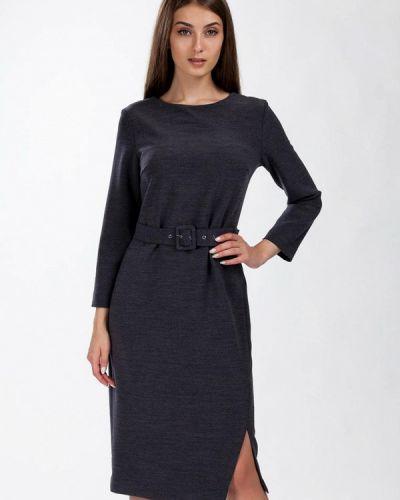 Повседневное платье весеннее серое Femme