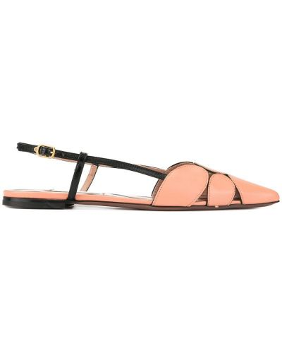 Однобортные розовые туфли-лодочки с открытой пяткой L'autre Chose