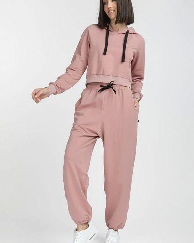 Костюмный розовый спортивный костюм Gloss