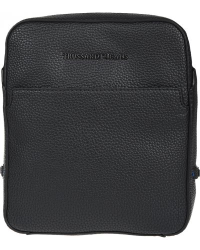 Текстильная черная сумка Trussardi Jeans