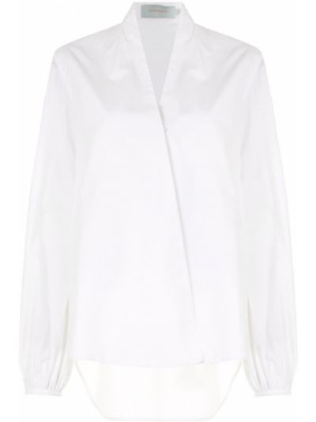 Белая рубашка свободного кроя на пуговицах с V-образным вырезом Silvia Tcherassi