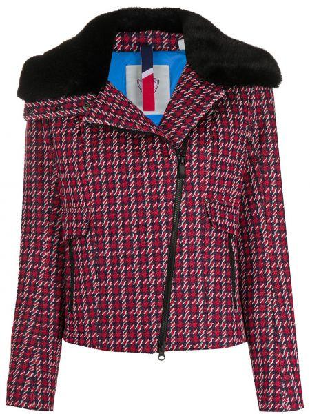 Красный прямой пиджак на молнии с воротником Rossignol