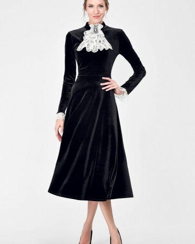 Вечернее платье осеннее черное Alisia Fiori