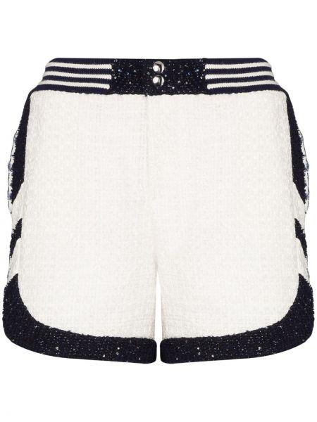 Однобортные белые шорты с карманами Faith Connexion