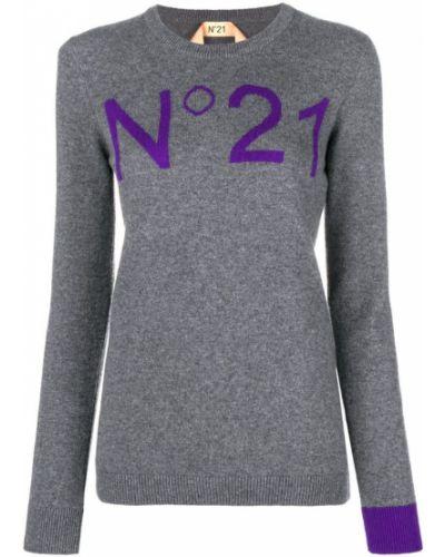 Свитер серый приталенный N21