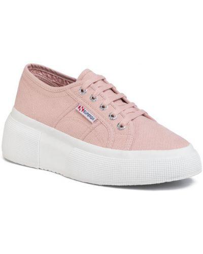 Różowe sneakersy Superga