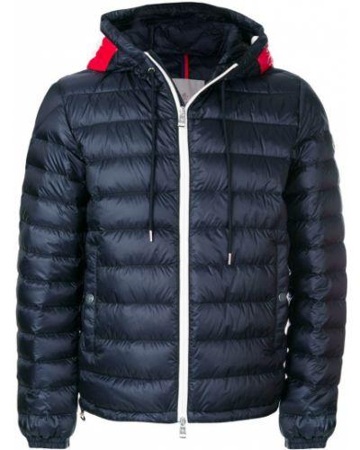 Куртка с капюшоном укороченная в полоску Moncler