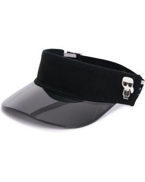 Козырек черный с логотипом Karl Lagerfeld