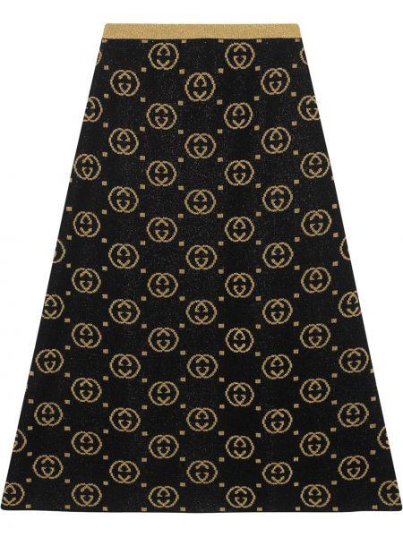 Złota spódnica - czarna Gucci