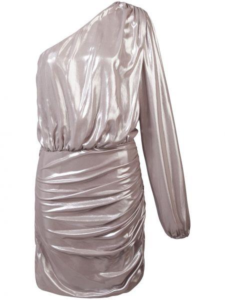 Желтое шелковое платье мини на молнии с подкладкой Michelle Mason