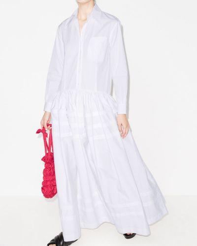 Платье макси длинное - белое Rosie Assoulin