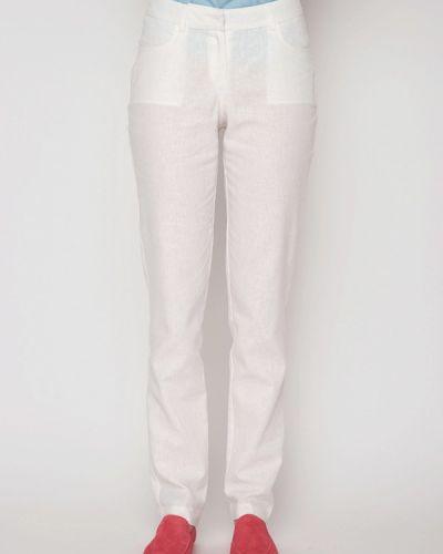 Белые брюки прямые Garmoniya