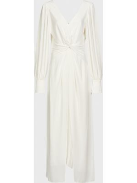 Белое платье на молнии Self-portrait