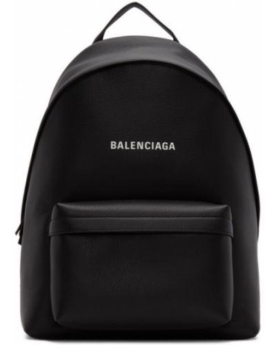 Czarny plecak na laptopa srebrny na co dzień Balenciaga