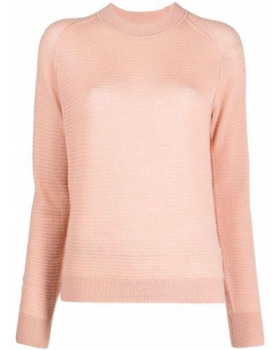 Różowy z rękawami kaszmir sweter z okrągłym dekoltem Forte Forte