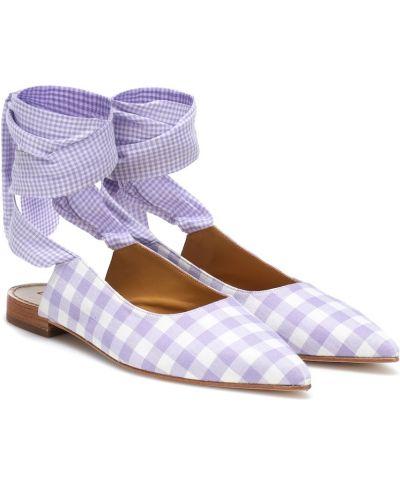 Кожаные фиолетовые балетки Dodo Bar Or