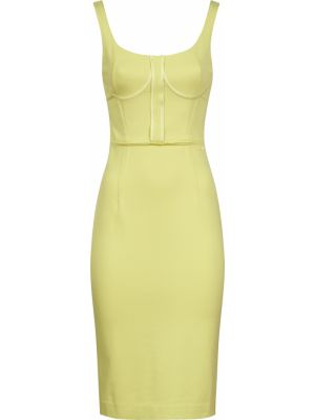 Хлопковое платье - желтое Armani Exchange