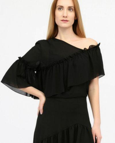 Блузка с рюшами черная Panove