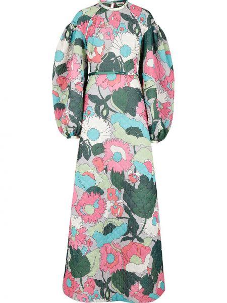 Платье на пуговицах с цветочным принтом Fendi