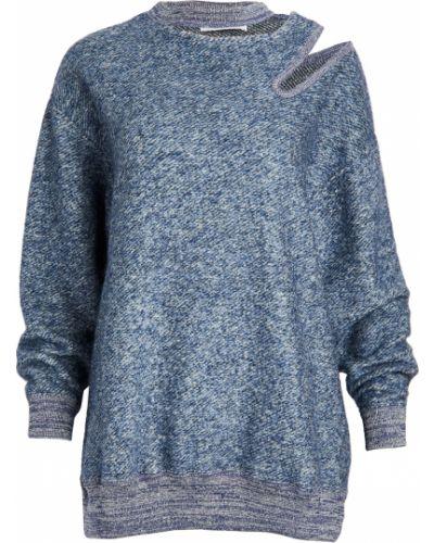 Синий шерстяной пуловер с вырезом Toga Pulla