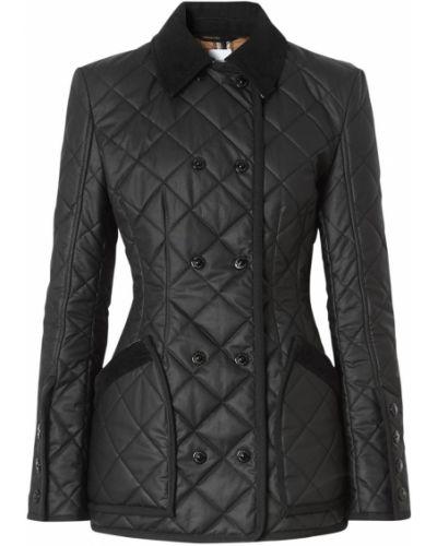 Ватная черная стеганая короткая куртка Burberry