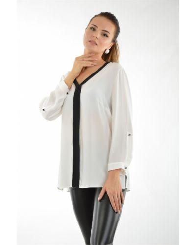 Блузка шелковая белая Maria Grazia Severi